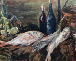 Konstantin Korovin. Still life with fish