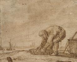 Ян Порселлис. Рыбак на берегу