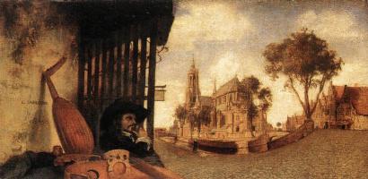 Вид города Делфт