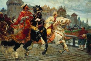 Михаил Иванович Авилов. Царевич Иван Иванович на прогулке. 1913