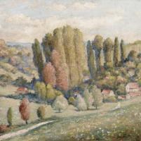 Жан Дельвиль. Пейзаж с кипарисами