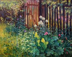 Георгий Харченко. Цветы у калитки