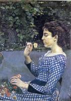 Фердинанд Ходлер. Девушка с цветком