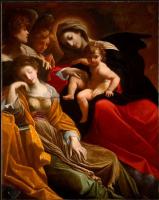 Лодовико Карраччи. Сон Святой Екатерины Александрийской
