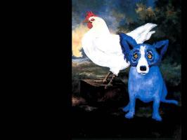 Джордж Родриг. Голубая собака013