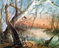 Карл Бодмер. Деревья у воды