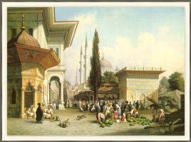 Огюст Финке. Стамбульская городская сцена