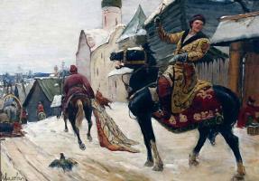 Михаил Иванович Авилов. Опричники в Новгороде.