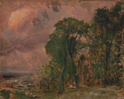 Джон Констебл. Вид на Хэмпстед в штормовую погоду