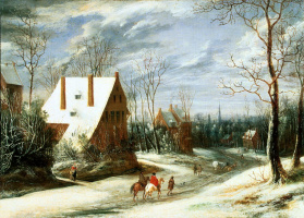 Даниэль ван Хейл. Зимний пейзаж