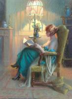 Дельфин Анжольра. Чтение в будуаре