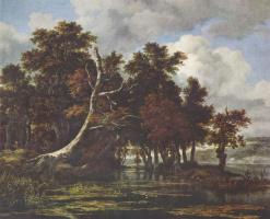 Якоб Исаакс ван Рейсдал. Пейзаж с дубовым лесом