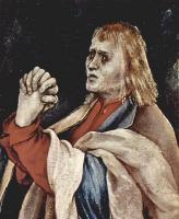 Маттиас Грюневальд. Малое распятие, сцена: Христос на кресте, Мария, Мария Магдалина и св. Иоанн, деталь: св. Иоанн