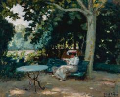 Альбер  Андре. Чтение в саду