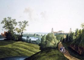 Семен Федорович Щедрин. Пейзаж в Царскосельском парке с видом на ферму