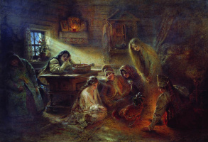 Konstantin Makovsky. Yule divination