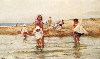 Пол Мишель Дюпюи. Дети на пляже