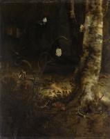 Отто Марсеус ван Скрик. Подлесок со змеей, ящерицами, бабочками и другими насекомыми