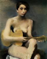 Владимир Васильевич Лебедев. Женщина с гитарой