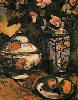 Александра Александровна Экстер. Натюрморт с вазой и цветами