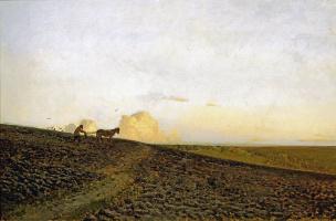 Isaac Levitan. Night plowing