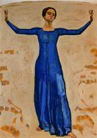 Фердинанд Ходлер. Женщина в синем