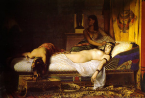 Jean Andre Rixens. The Death Of Cleopatra