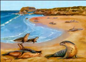 Дениз Сиденхам. Морской пейзаж 1