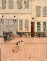 Пьер Боннар. Пустынная улица и собаки