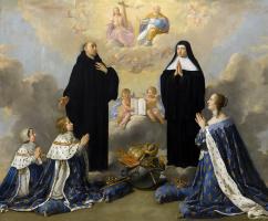Филипп де Шампень. Святые, Людовик XIV, Анна Австрийская и Филипп Анжуйский перед Святой Троицей