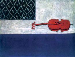 Иван Альбертович (Жан) Пуни. «Натюрморт. Красная скрипка» 1919