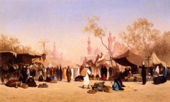 Карл Теодор Фрер. Торговая площадка в Каире