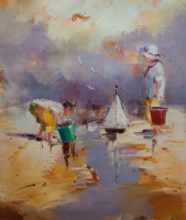 Савелий Камский. Дети на морском берегу. N16