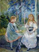 Берта Моризо. Маленькие девочки в окне