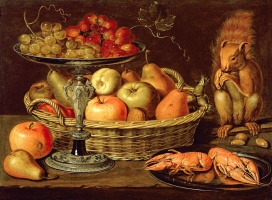Clara Peeters. Still-life with silver bowl