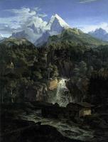 Адриан Людвиг Рихтер. Лес в горах