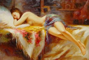 Эль Говард. Спящая девушка