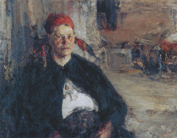 A woman in the chest