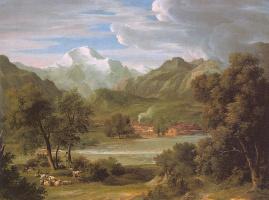 Джон Кох. Облака над озером