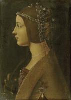 Giovanni Ambrogio de Predis. Portrait of an unknown woman. Possibly Beatrice d'este