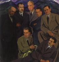 Adalbert Mikhailovich Erdeli. Group portrait of Uzhgorod artists