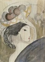 Мари Лорансен. Женщина с корзиной фруктов