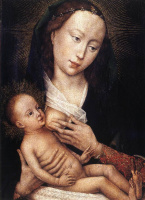 Рогир ван дер Вейден. Портрет-диптих Жана де Гроса. Левая часть