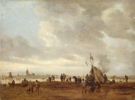 Jan van Goyen. Winter view near the Hague