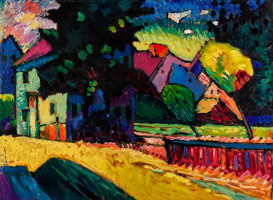 Wassily Kandinsky. Murnau. Landscape with green house