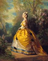 Франц Ксавер Винтерхальтер. Императрица Евгения (Эжени де Монтижу) в наряде XVIII века