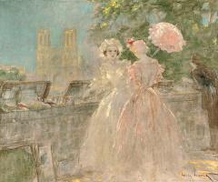 Icarus Louis France 1888 - 1950. Quay, Notre Dame.