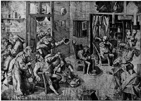 Pieter Bruegel The Elder. Surgery to remove the stones of stupidity