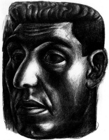 Хосе Давид Альфаро Сикейрос. Голова мужчины