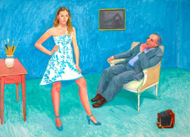 David Hockney. The photographer and his daughter